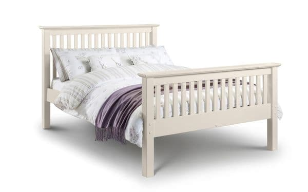Tarragona Stone White King Size Bed High Foot End JB70