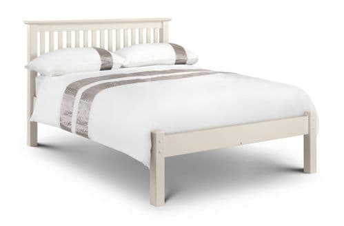 Tarragona Stone White King Size Bed Low Foot End JB73