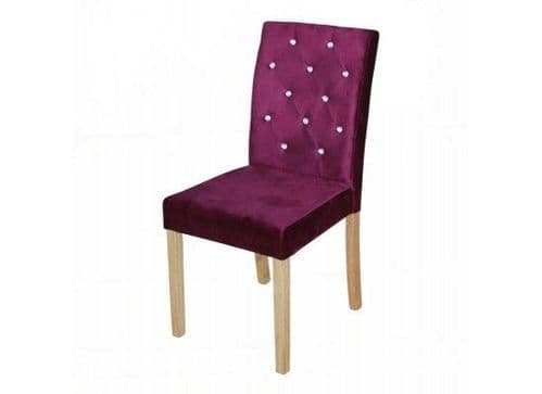 Thionville Purple Crushed Velvet Set Of 2 Dining Chairs 17LD458