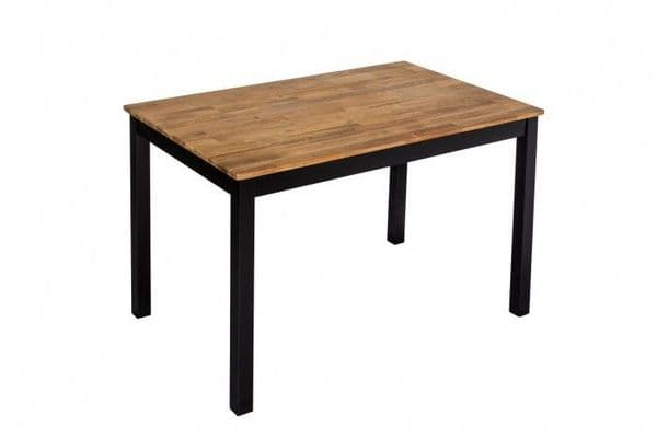 Thonon Black Frame With Oiled Wood Dining Table 19LD371