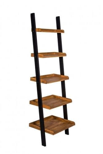 Thonon Black Frame With Oiled Wood Ladder Bookshelf 19LD375