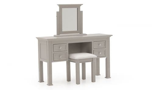 Torre Taupe Panelled Dressing Table / Stool 18VD386