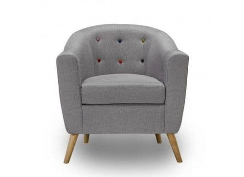Trinite Soft Grey Linen Arm Chair 17LD515