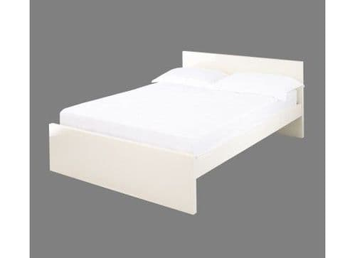 Troyes Cream High Gloss King Size Bed 19LD94
