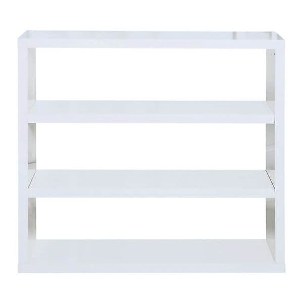 Troyes White High Gloss Finish Bookcase 19LD431