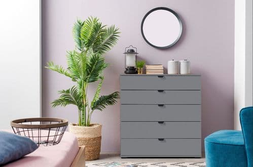 Valenca Modern Large Chest Of Drawers in Grey