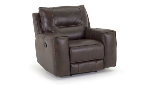 Valentia Vintage Banor Brown Fabric 1 Seater Recliner 18VD124