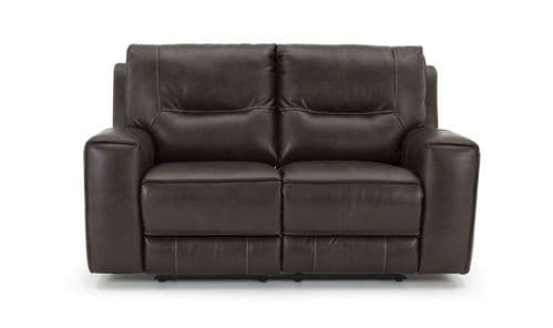 Valentia Vintage Banor Brown Fabric 2 Seater Recliner 18VD125