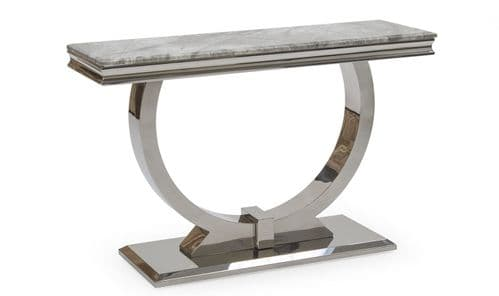 Vasto Grey Marble And Steel Console Table 18VD89