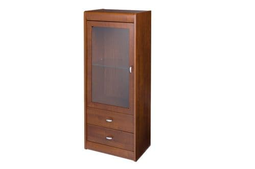 Veldo Cherry Primavera Narrow 1 Glass Door Display Cabinet SZDO13