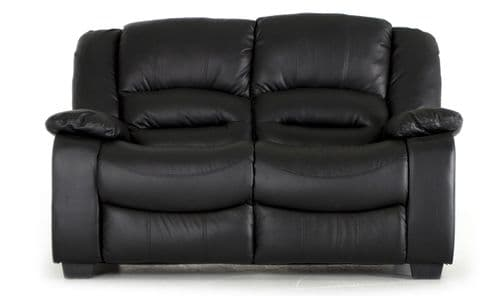 Venosa Black Bonded Leather 2 Seater Sofa 18VD108