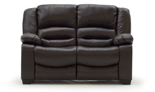 Venosa Brown Bonded Leather 2 Seater Sofa 18VD109