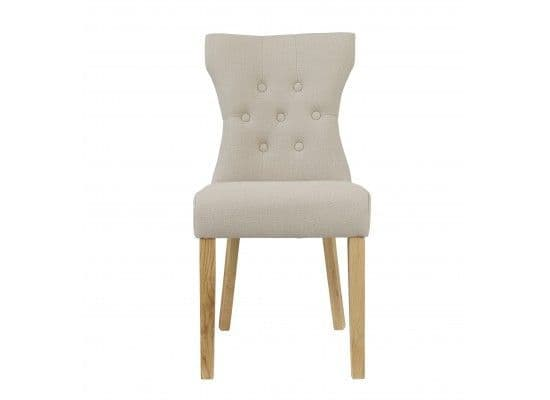 Vincennes Cappuccino Fabric Set Of 2 Dining Chairs 17LD455