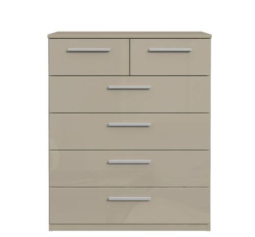 Westbury Cashmere Beige Gloss 4+2 Chest Of Drawers 2996