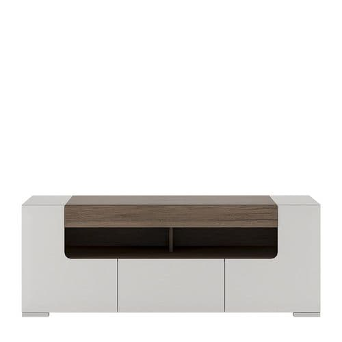 York White High Gloss 140 cm wide TV Cabinet FG4202144