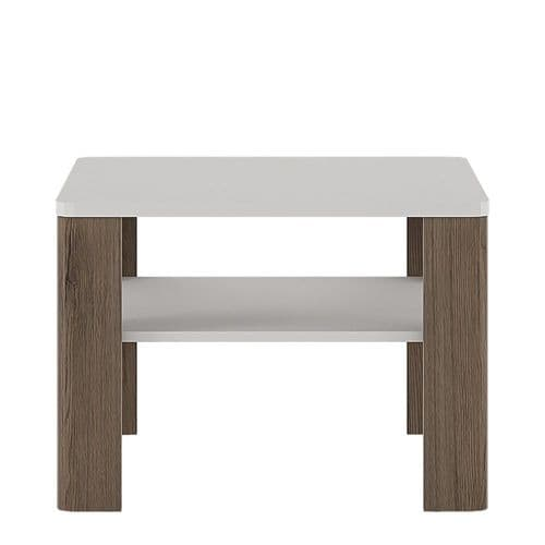 York White High Gloss Coffee Table with shelf FG4204644
